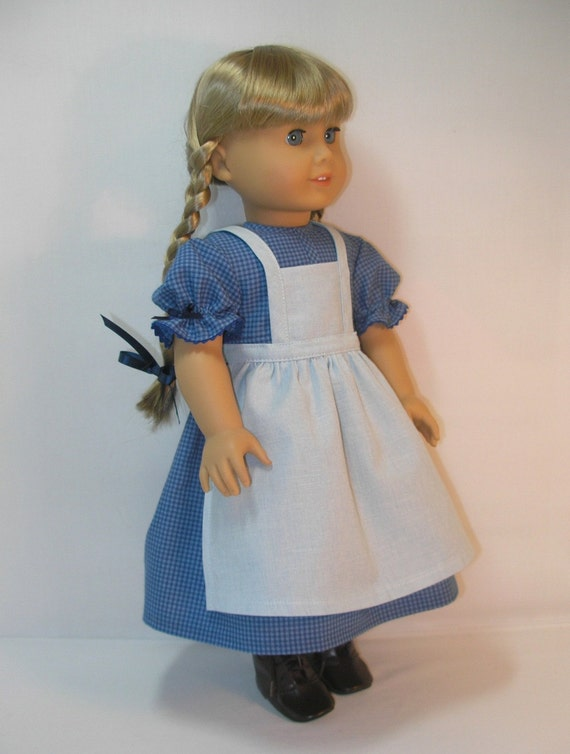 1854-1093 Dress and Apron for Kirsten, American Girl 18 Inch Doll