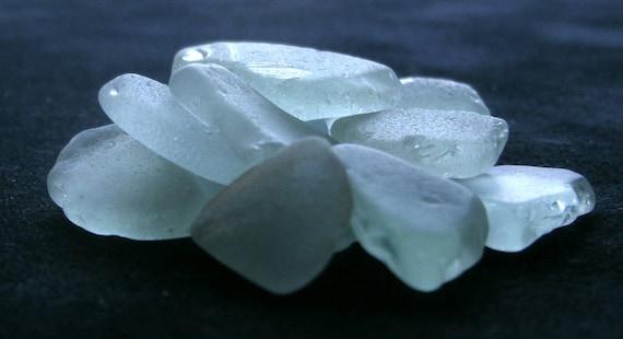 Tropical, Hawaiian Natural Formed Beach Glass, Pale Aqua Lot FA17