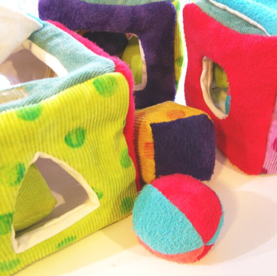 Organic Shape Sorter Fabric Infant Learning Toy