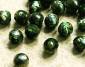 Faceted Green Freshwater Pearls