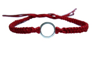 Circle of Friendship Bracelet in Red