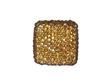 Square cabochon faceted Light Topaz