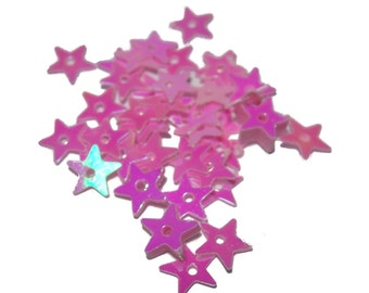 Pink Star Sequins 10 grams