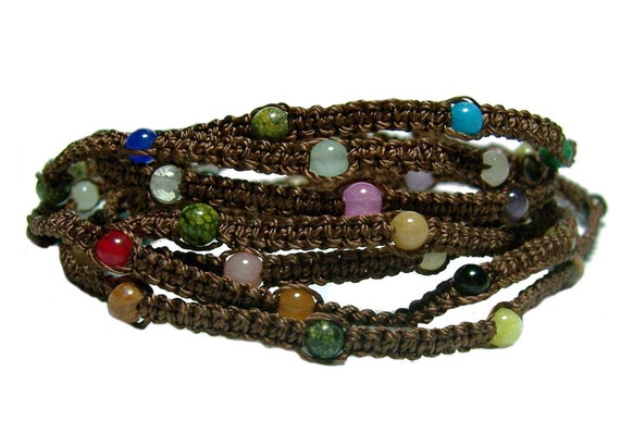 The Ultimate Wrap bracelet with gemstone beads