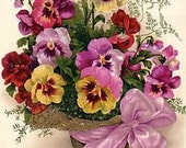 Silk Print with Pansy Theme 03