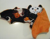 Ghosts in Costumes on Orange Faux Fur - Coffee Cozy, Cup Sleeve, Stuffed Animal