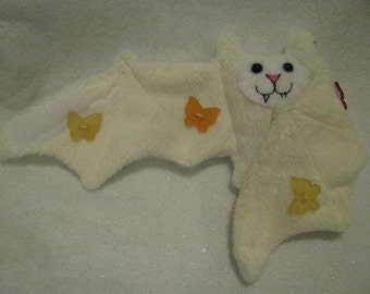 Spring Butterfly button Bat Stuffed Animal, Coffee Cozy, Cup Sleeve