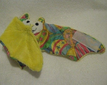 Yellow Turkish Easter Egg Bat - Stuffed Animal, Coffee Cozy, Cup Sleeve