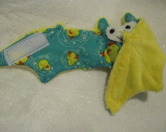 Swimming Rubber Duckies Spring Bat - Stuffed Animal, Coffee Cozy, Cup sleeve
