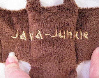 JAVA Junkie - Bat Cup Sleeve/Coffee Cozie/Stuffed Animal