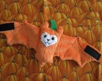 Pumpkin Bat Coffee Cozy, Stuffed Animal, Cup Sleeve