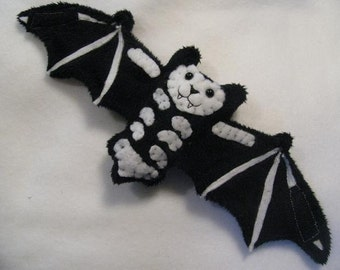 Reversable Skeleton Bat Stuffed Animal, Coffee Cozy, Cup Sleeve