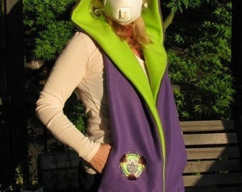 Toxic Hooded Scarf with Pockets