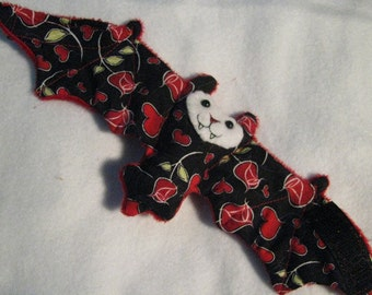 Roses Valentines Day Bat Coffee Cozy, Cup Sleeve, Stuffed Animal
