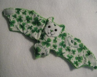 St. Patricks Day Bat Cup Sleeve/Cozie/Stuffed Animal