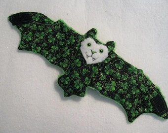 St Patrick's Day Bat Coffee Cup Sleeve\/Cozie\/Stuffed Animal