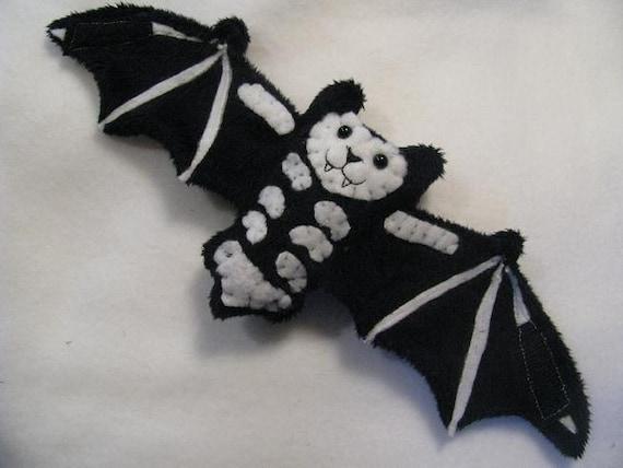 Reversable Skeleton Bat Stuffed Animal, Coffee Cozy, Cup Sleeve