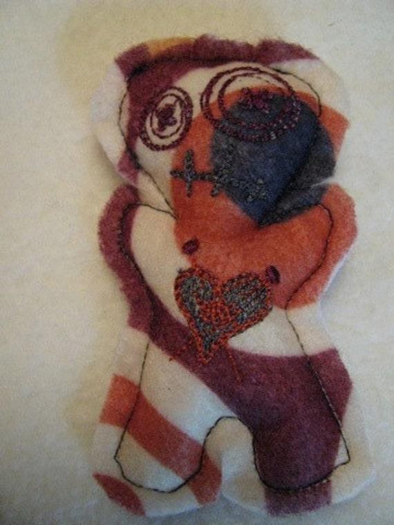 "Voodoo Doll Pin Cushion or Pocket Pal - Bullseye Circles B ""The Black Spot"""