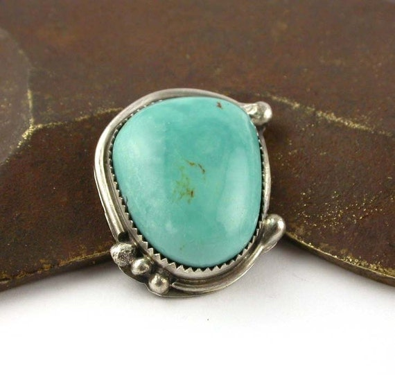Take 25 Sale  - Turquoise Ring - Stone and Sterling Silver Ring - State Your Size