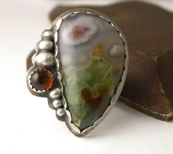 Custom Order for Lauren - Balance for Ocean Jasper Ring