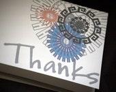 Retro Circle Thank You Notes