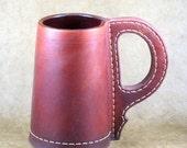 Leather English Pint Tankard Mug