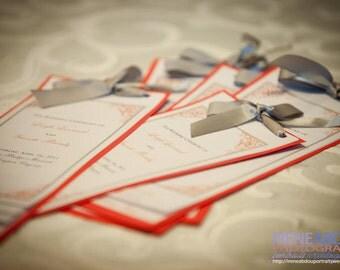 Layered Wedding Program Sample