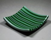 stripped glass dish