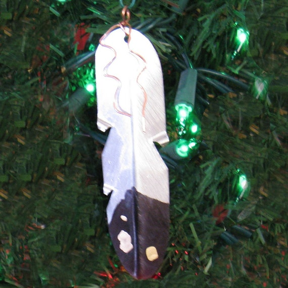 Native american eagle feather christmas by nativetalismanart for American christmas decoration