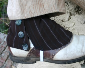 Brown Pinstripe Spats