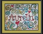 Custom Kid Name-Teen-Nursery-Baby Name Personalized Artwork