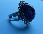 Heat Lightning. beautiful blue domed ring