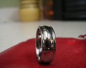 Titanium Ring or Wedding Band Classic Profile Polished