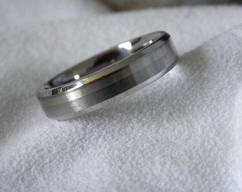 Titanium White Gold Ring or Wedding Band
