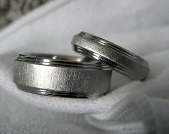 Titanium Ring SET or Matching His/Hers Wedding Rings
