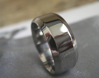 Titanium Ring, Polished Ring, Wedding Band