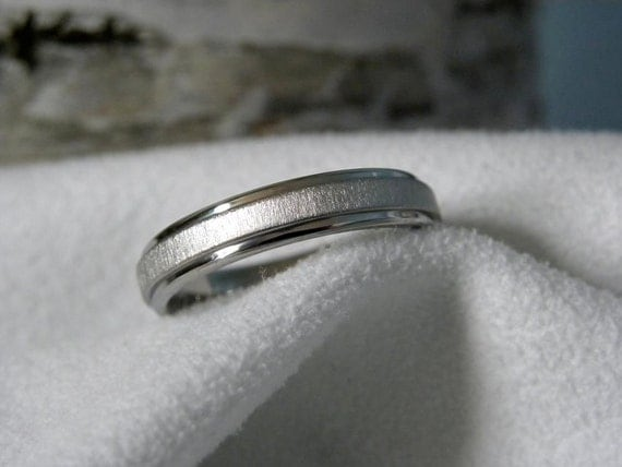 Titanium Ring or Wedding Band 4mm size 13.5 Clearance Listing