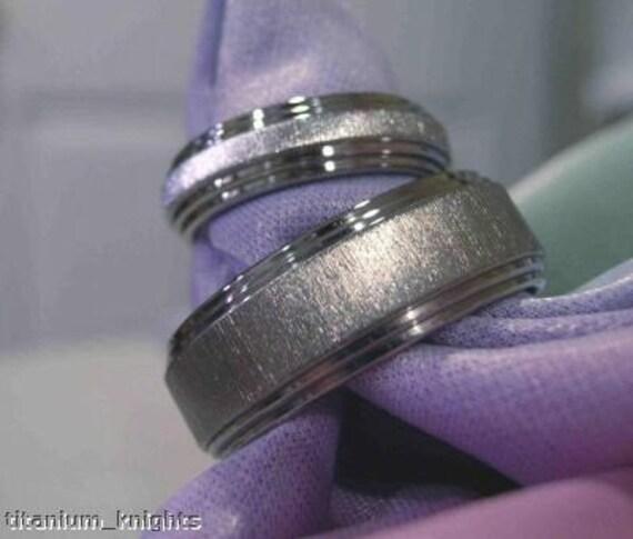 Titanium Ring Wedding Band SET His\/Hers Anniversary