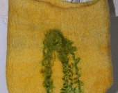 yellow felted purse