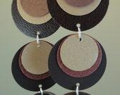 Paper Earrings in Warm, Earthy Brown