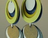 Paper Earrings in Spring Greens