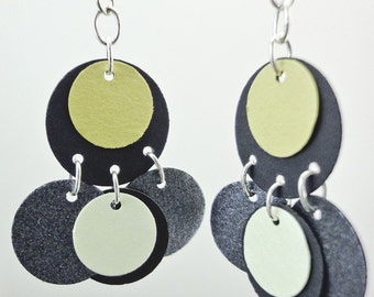 Short Black Paper Earrings