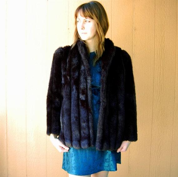 vintage neiman marcus vegan fur throw coat small medium. Black Bedroom Furniture Sets. Home Design Ideas