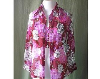 Smartique Vintage 70s Sexy Halter Top and Shirt Jacket Set S M