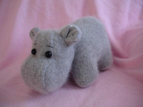 Hippo Stuffed wool Sewing Pattern PDF