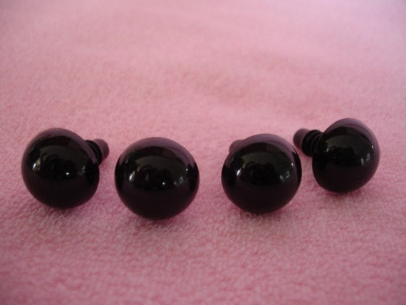 9mm Black safety eyes 25 pairs