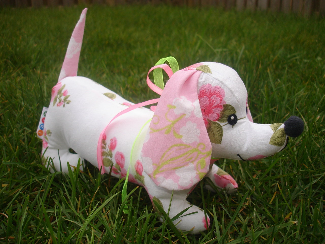 Dachshund Stuffed Weiner Puppy Dog Sewing Pattern By