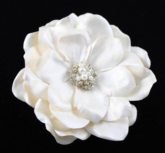 Luxury Satin Champagne Hair Flower