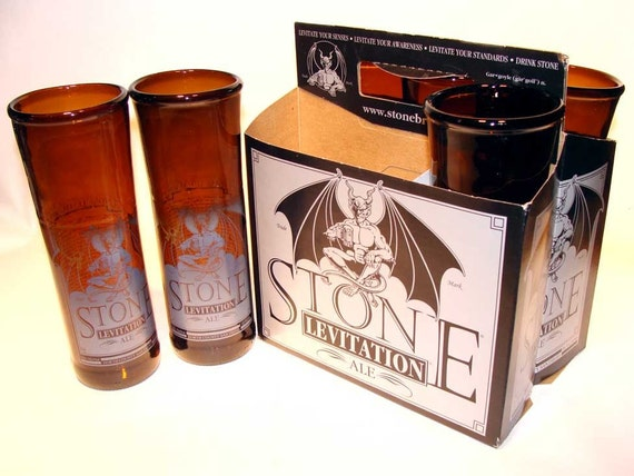 Stone Levitation Beer : Items similar to six pack set of recycled stone levitation