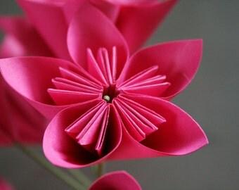Marvelously Magenta - Set of 6 origami flowers